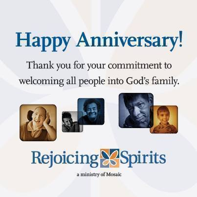 Happy Anniversary! Thank you for your commitment to welcoming all poeple into God's family.